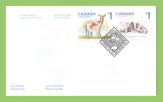 Canada 2005 S1 Deer And $1 Walrus On First Day Cover photo