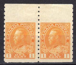 1922 Sc 105 Margin Coil Pair Og M - Lh - On - Selvedge Canada photo