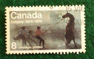 Canada.  Centenary Of Calgary.  1976.  8 Cents. photo