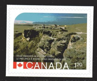 2014 Sc Head Smashed In Buffalo Jump Unesco World Heritage Site L 594b M photo