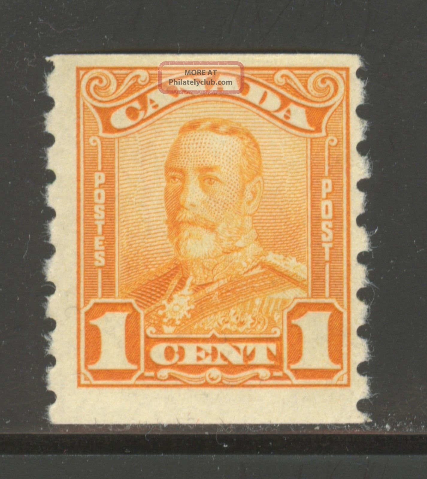 Canada 160,  1929 1c King George V - Scroll Coil Issue,  Never Hinged Canada photo
