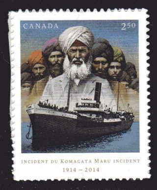 2014 Komagata Maru Incident Of 1914,  100 Anniver.  1 Stamp From Booklet photo