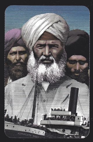 2014 Bk Komagata Maru Incident Of 1914,  100 Anniversary 1 Booklet Of 6 photo
