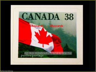 Canada 1989 Canadian Flag Over Forest Fv Face 38 Cent 1191 Quick Stick Stamp photo
