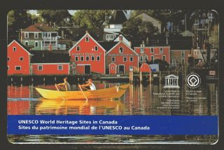 2014 Sc Bk Unesco World Heritage Sites In Canada M - Nh 1 Booklet Of 6 Lunenb. photo