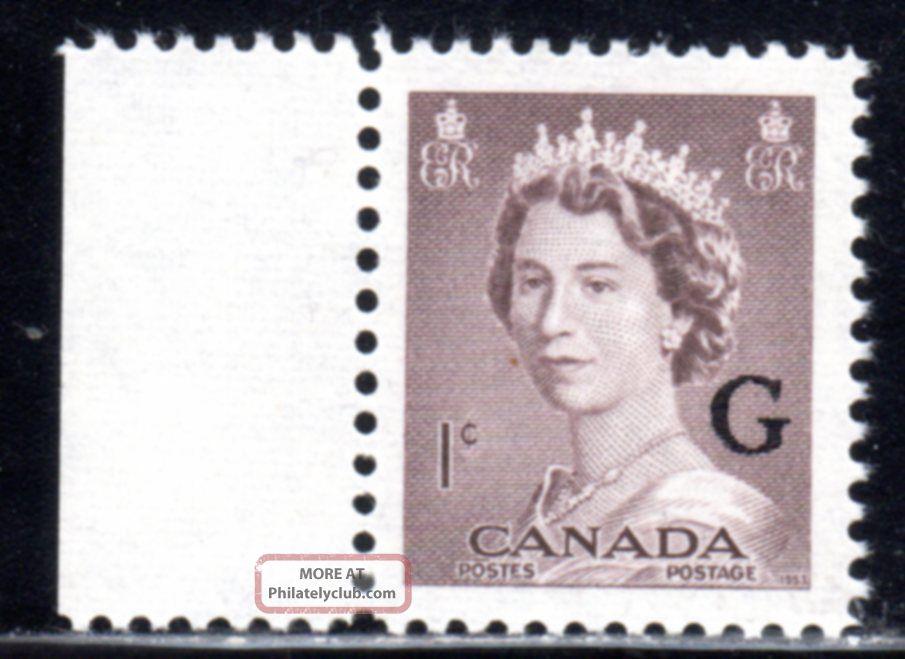 1953 Canada Sc O33 Queen Elizabeth Ii Lot492a Overprinted