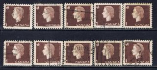 Canada 401 (1) 1962 1 Cent Brown Elizabeth Ii & Mining 10 photo