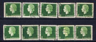 Canada 402 (2) 1963 2 Cent Green Elizabeth Ii & Forestry 10 photo
