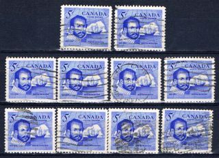 Canada 412 (3) 1963 5 Cent Martin Frobisher 10 photo