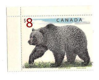 Canada Stamp - $8 Bear photo