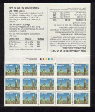 1988 Sc Bk 98a Parliament Buildings Stamp Pack Text Rp photo