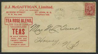 Canada Brunswick 1903 Tea Advert Cover photo