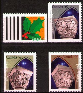 Canada 1995 Sc1585 - 88 Mi1521h,  22 - 24a 5.  40 Mieu 4v Christmas photo