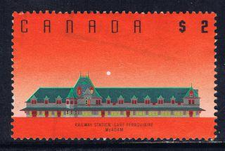 Canada 1182 (4) 1992 $2.  00 Mcadam Railway Station,  N.  B.  Error Unusual White Dot photo