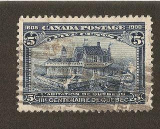 Canada Scott 99 Quebec Tercentenary - Champlain ' S Home - 1908 Issue - photo