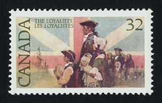 Canada 1028 The Loyalists,  Flag photo