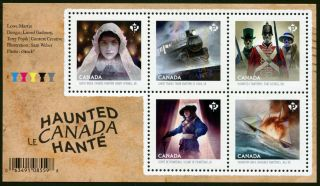 Canadian Stamp Haunted Canada Ss Jun 13 2014 Og photo