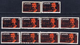 Canada 612 (4) 1973 8 Cent Rcmp Centenary Commissioner G.  A.  French & Map 10 photo