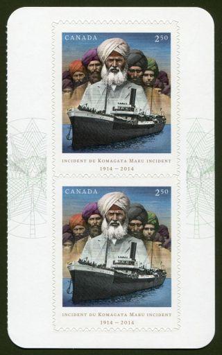 Canadian Stamp Issue Komagata Maru Incident May 1 2014 Og photo