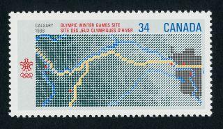 Canada 1077 Winter Olympics,  Map photo