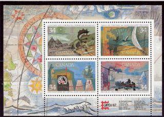 Canada 1989 Explorers Of Canada S/s (sc 1107b) photo