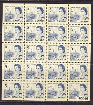 1967 458bp 5¢ Centennial Issue Df Dex Tagged W2b Mini Pane Of 20 Vfnh photo