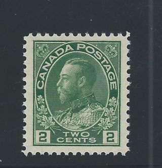 King George V Admiral 2 Cents Yellow Green 107 Mh photo