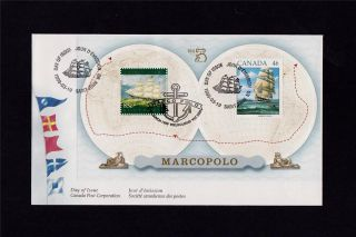 Canada Post 1999 Marco Polo/australia Stamp Expo Day Of Issue Cover photo