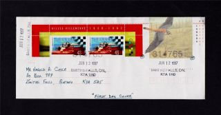 Canada Post Gilles Villeneuve 1997 Day Of Issue Cover