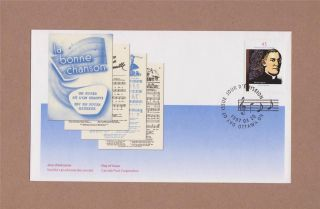 Canada Post 1997 Father Charles - Emile Gadbois Day Of Issue Cover Bonne Chanson photo