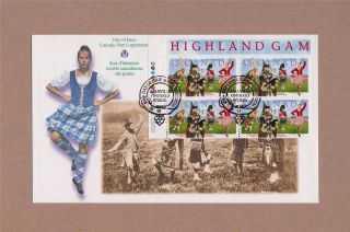 Canada Post 1997 Glengarry Highland Games Day Of Issue Cover 50th Anniversary photo