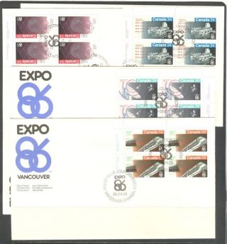 Tram Aerial Train Space Vancouver Expo Canada 1986 Fdc photo