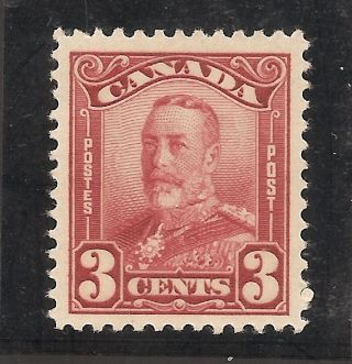 King George V Scroll Issue 3 Cents 151 Mh photo