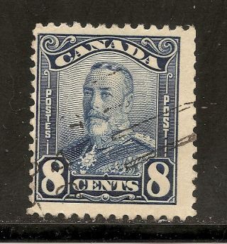 King George V Scroll 8 Cents Blue 154 photo