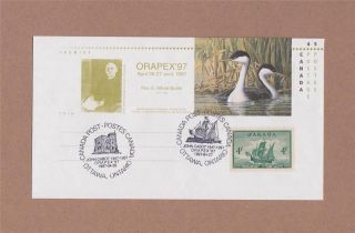 Canada Post 1997 Orapex ' 97 Day Of Issue Cover With John Cabot 1947 photo