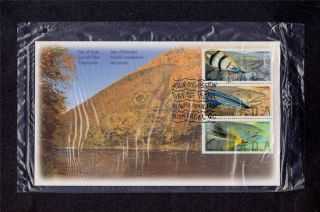 Canada Post 1998 Canadian Fishing Flies Day Of Issue Cover Pack (2) photo