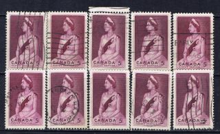 Canada 433 (2) 1964 5 Cent Queen Elizabeth Ii Royal Visit 10 photo