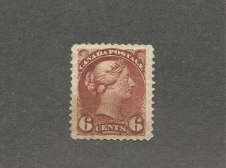 Canada 1888 Scott 43 Small Queen 6 Cents Mng Vf Cv $300 photo