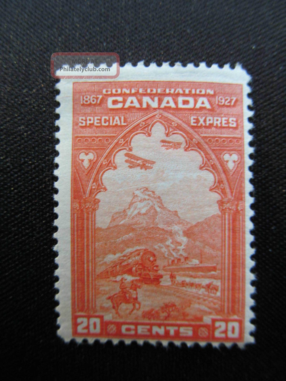 1927 Canada Mhm 20 Cent Special Delivery Stamp,  E3; Cv $35.  00 Canada photo