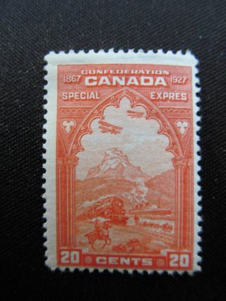 1927 Canada Mhm 20 Cent Special Delivery Stamp,  E3; Cv $35.  00 photo