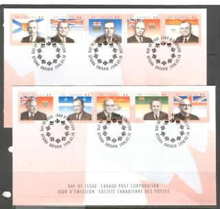 Provincial Flags Premiers Canada 1998 Sc 1709 2 Fdc ' S photo
