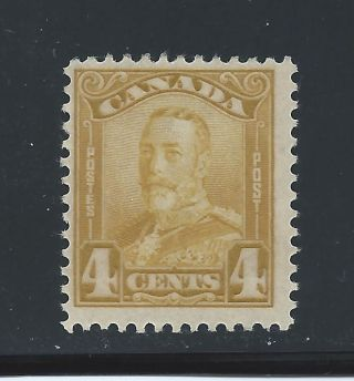 King George V Scroll Issue 4 Cents 152 Mh photo