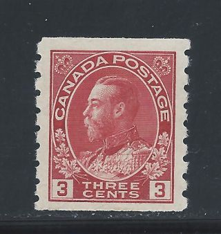 King George V Admiral Coil 3 Cents Carmine 130 Nh photo