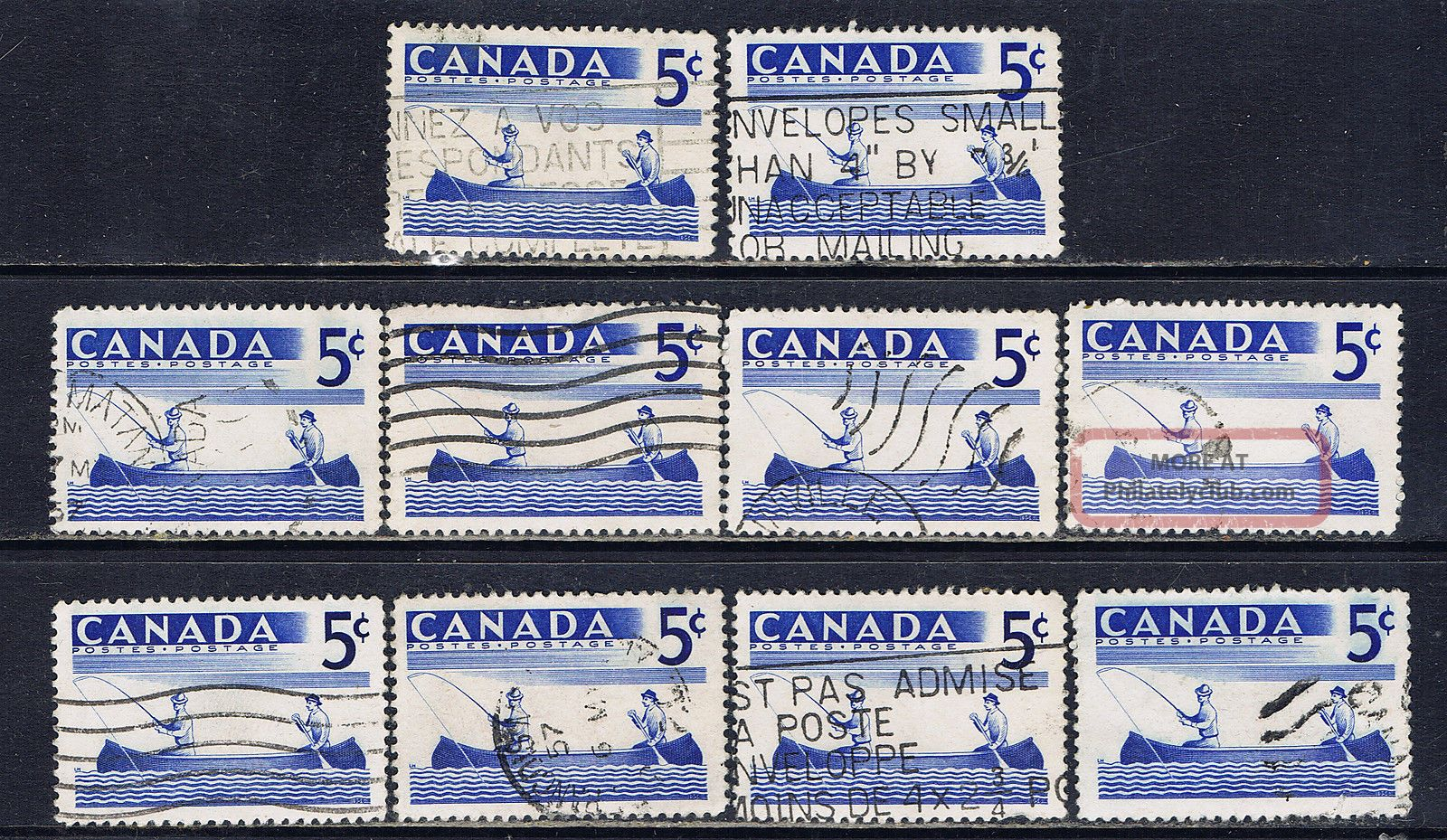 Canada 365 (9) 1957 5 Cent Blue Recreation Sports - Fishing 10 Canada photo