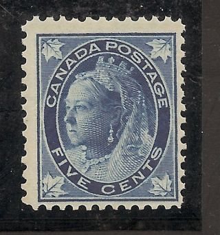 Queen Victoria Maple Leaf Five Cents 70 Nh photo