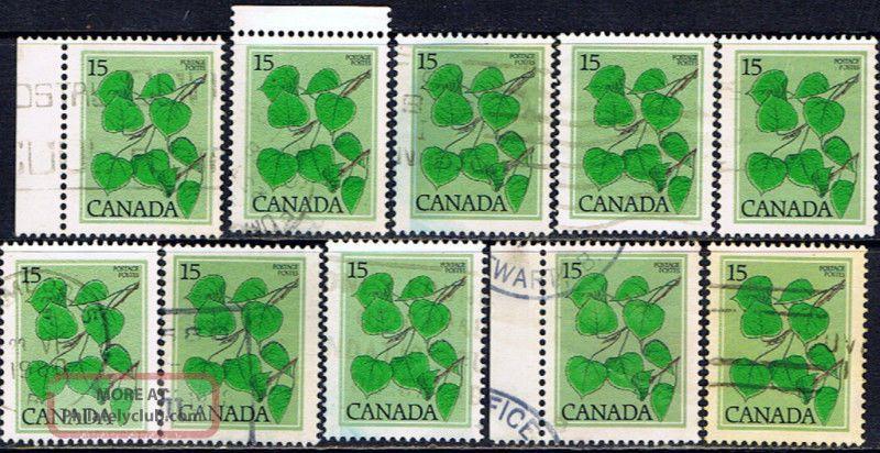 Canada 717 (10) 1977 15 Cent Sage Green Trembling Aspen 10 Canada photo