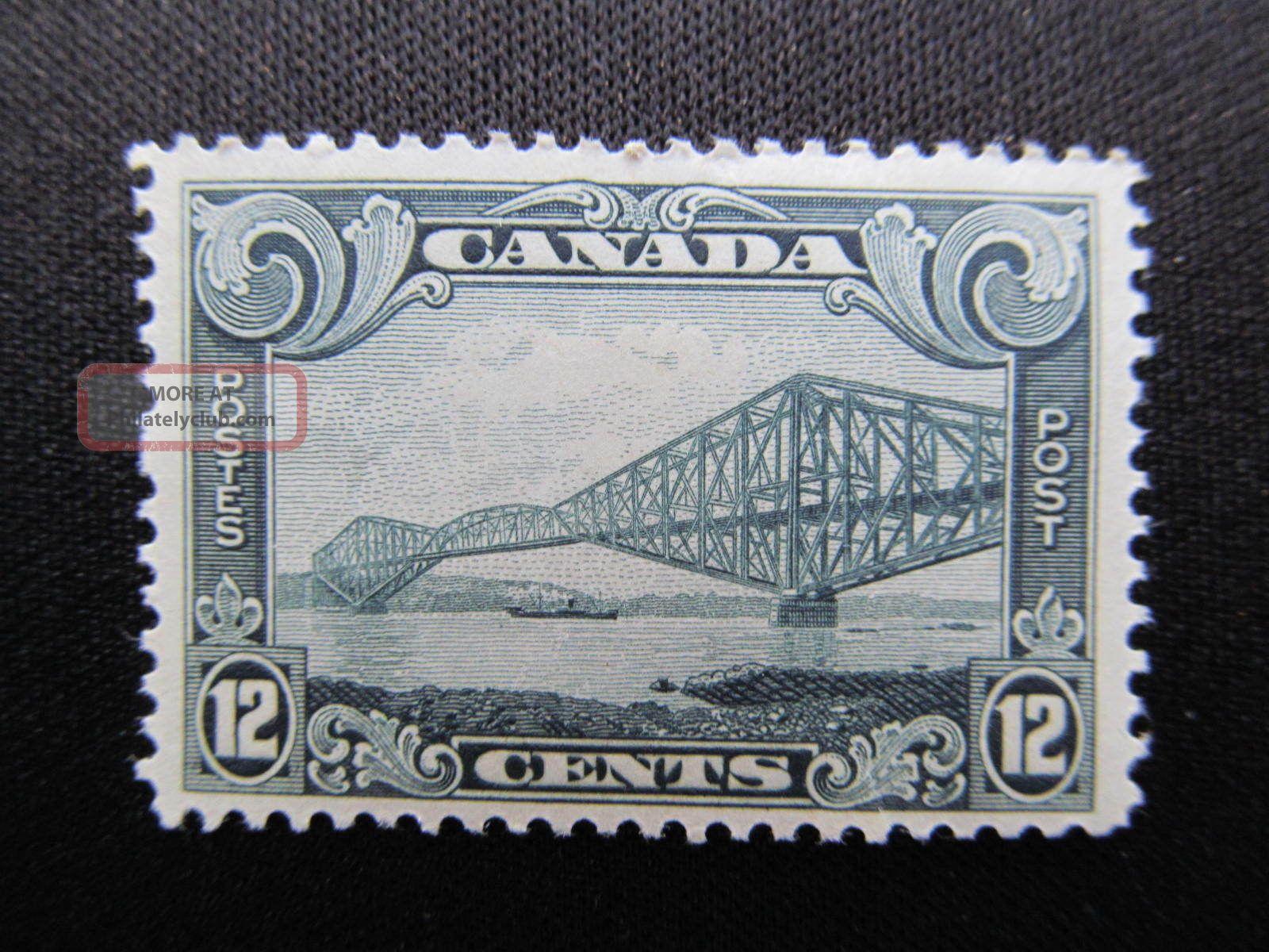 1929 Canada 12 Cent Stamp Featuring Quebec Bridge,  156; Cv $65.  00 Canada photo