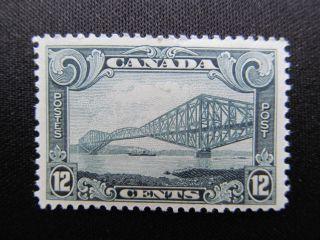 1929 Canada 12 Cent Stamp Featuring Quebec Bridge,  156; Cv $65.  00 photo