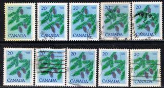 Canada 718 1977 20 Cent Blue & Multi Douglas Fir 10 photo