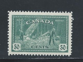 King George Vi Peace Issue 50 Cents Logging 272 Nh photo